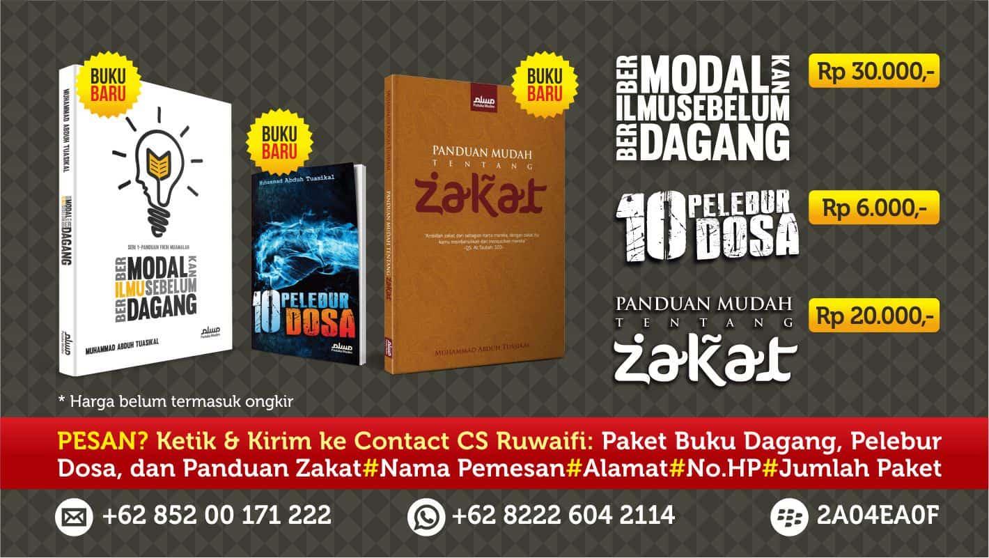 Banner Paket Buku 3 Buku - Slide Rumaysho 800x451
