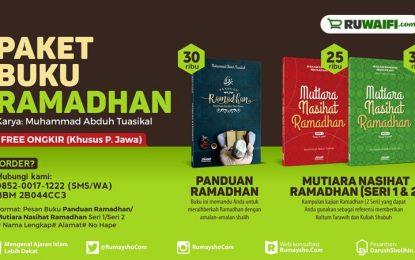 100 Ribu Dapat Tiga Buku Baru Ramadhan (Promo s/d 20 Mei 2016)