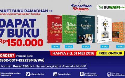 Promosi Pra Ramadhan, 150 Ribu Dapat 7 Buku, 5 Hari Promo