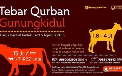 Satu Qurban Selamatkan Iman Saudara Muslim Gunungkidul (s.d 5 Agustus 2016)