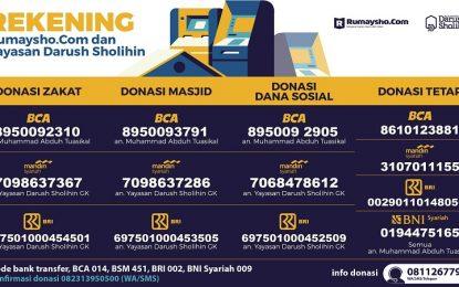 Rekening Donasi Rumaysho.Com dan Pesantren Darush Sholihin