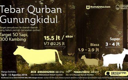 Qurban di Daerah Minus di Gunungkidul (s.d 12 Agustus 2016)