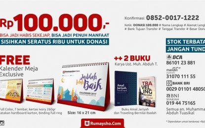 100 Ribu untuk Kalender Meja Rumaysho Plus Dua Buku Baru