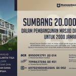 Donasi 4 Hari untuk Memenuhi 203 Juta Pembangunan Masjid DS