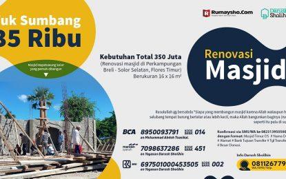 Cukup 35 Ribu Rupiah untuk Renovasi Masjid Solor Selatan (Flores Timur, NTT)